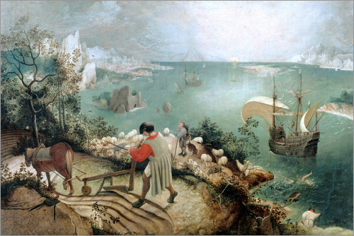 "Breughel's painting ""The Fall of Icarus"""