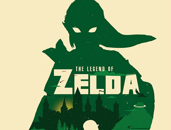 The Legend of Zelda minimalist art
