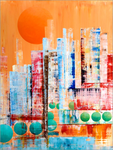 Premium-Poster Skyline New York, abstrakt
