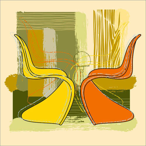 Wandsticker panton chair 01