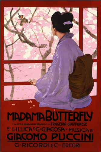 Premium-Poster Puccini, Madame Butterfly