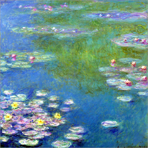 poster leinwandbild seerosen giverny claude monet ebay. Black Bedroom Furniture Sets. Home Design Ideas