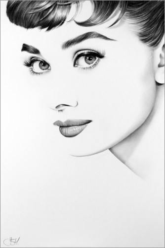 poster leinwandbild audrey hepburn ileana hunter ebay. Black Bedroom Furniture Sets. Home Design Ideas
