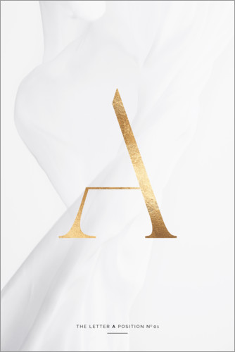 Premium-Poster GOLD LETTER COLLECTION A