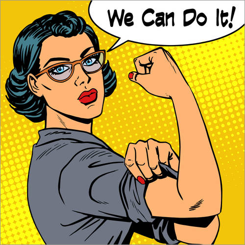 Wandsticker We can do it! Popart