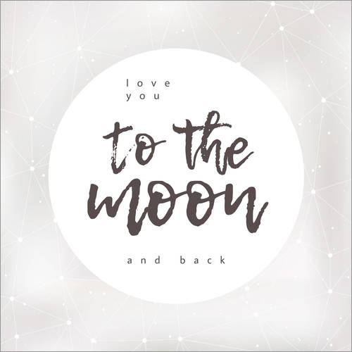 Wandsticker to the moon and back
