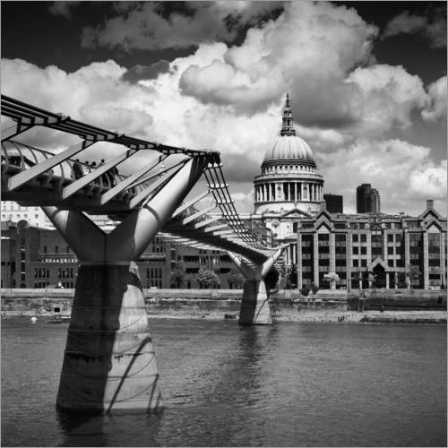 Wandsticker LONDON Millennium Bridge und St Paul's Cathedral