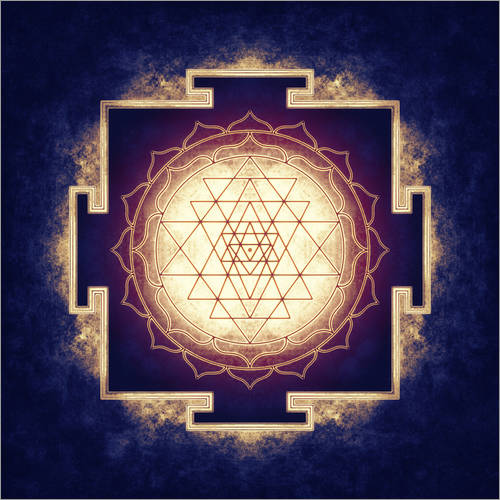 Wandsticker Sri Yantra - Artwork IX
