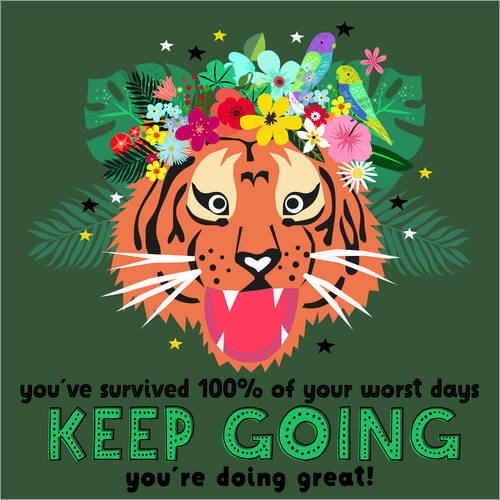 Wandsticker Keep Going