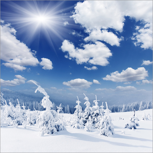 Wandsticker Winterlandschaft