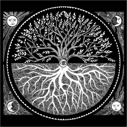 Wandsticker druid tree of life