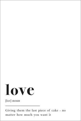 Premium-Poster Love Definition (Englisch)