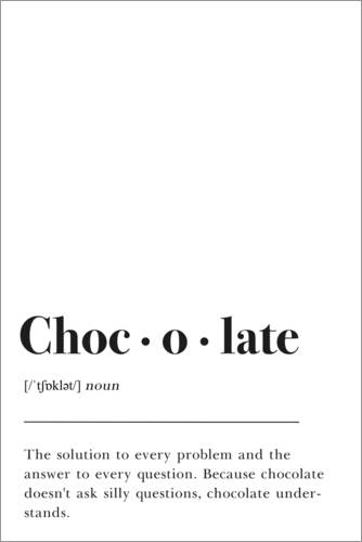 Premium-Poster Chocolate Definition (Englisch)