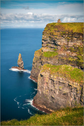 Premium-Poster Cliffs of Moher Castle, Irland