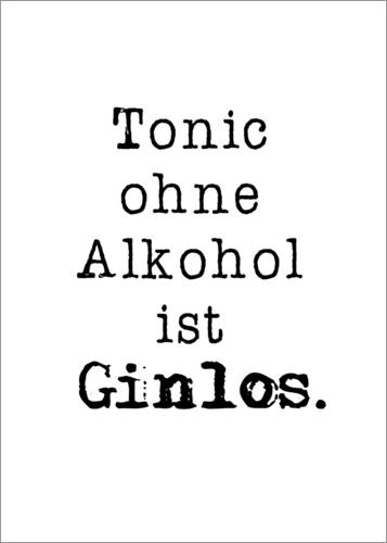 Poster Tonic ohne Alkohol
