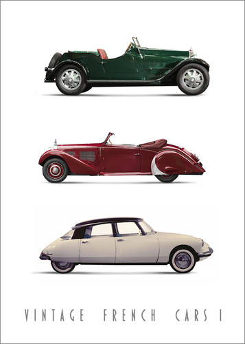 Premium-Poster Vintage French Cars 01