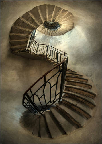 Jaroslaw Blaminsky Spiral Staircase In An Old Tower Poster Online