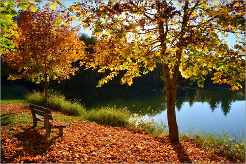 Poster Herbst am See