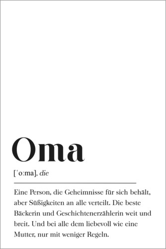 Premium-Poster Oma Definition