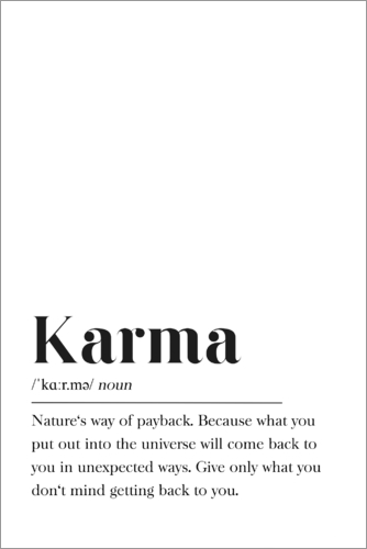 Pulse Of Art Karma Definition Englisch Poster Online Bestellen