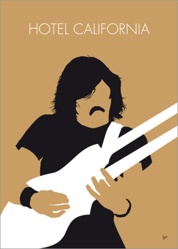 Premium-Poster No230 MY THE EAGLES Minimal Music poster
