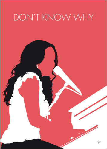 Premium-Poster No252 MY Norah Jones Minimal Music poster