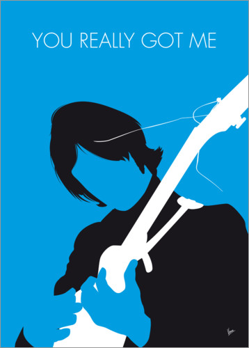Premium-Poster No229 MY THE KINKS Minimal Music poster