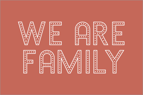 Premium-Poster We are family