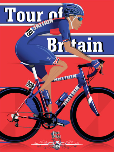Premium-Poster Tour of Britain Radrennen