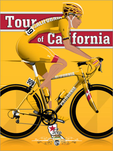 Premium-Poster Tour of California Radrennen