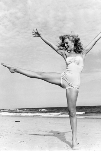 Premium-Poster Marilyn am Strand