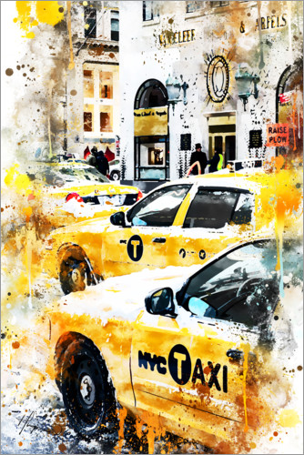 Premium-Poster New York Taxis