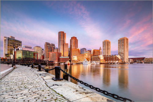 Premium-Poster Boston Harbor bei Sonnenaufgang