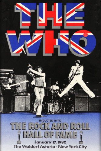 Premium-Poster The Who - Hall of Fame
