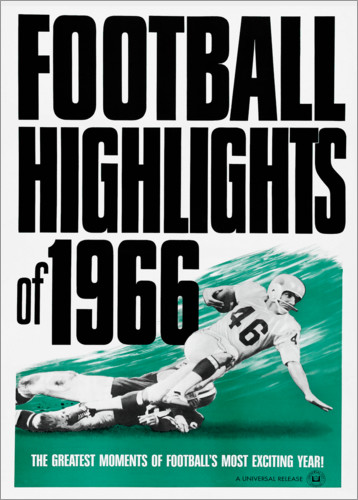 Premium-Poster Football Highlights 1966