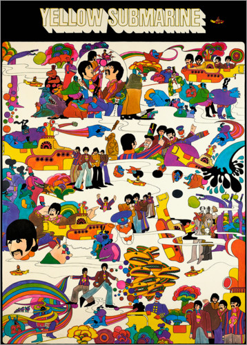Premium-Poster The Beatles - Yellow Submarine