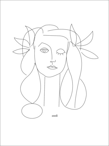 Premium-Poster Hommage an Picasso