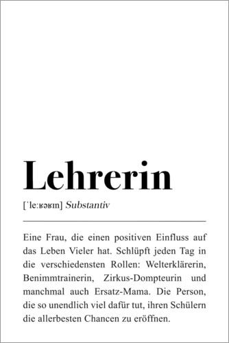 Premium-Poster Lehrerin Definition