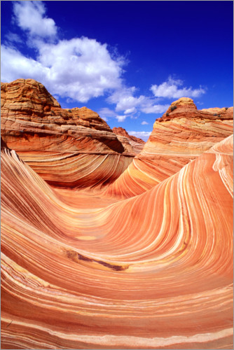 Premium-Poster The Wave im Coyote Buttes