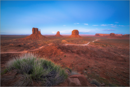 Premium-Poster Monument Valley im Abendrot