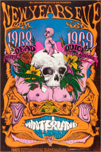 Premium-Poster New Year's Eve concert, Grateful Dead