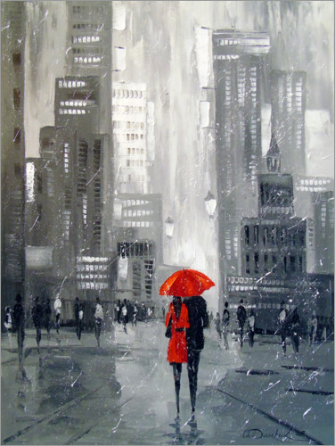 Premium-Poster Spaziergang in New York