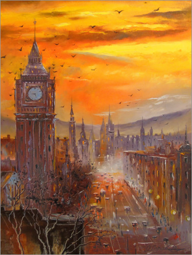 Premium-Poster Abends in London