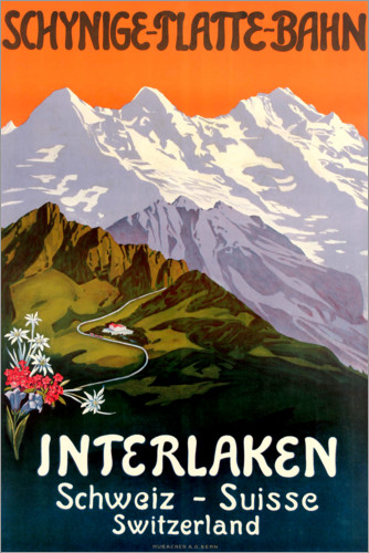 Premium-Poster Interlaken