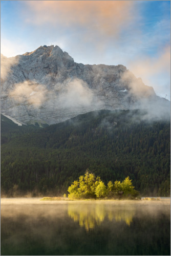 Premium-Poster Morgens am Eibsee