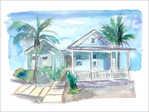 Premium-Poster Traumhaus in Key West