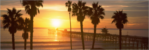 Premium-Poster San Clemente Pier in Los Angeles County