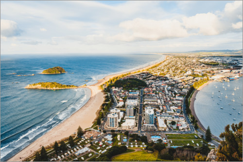 Premium-Poster Blick über New Plymouth