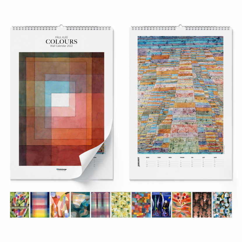 Wandkalender Paul Klee, Colours 2021