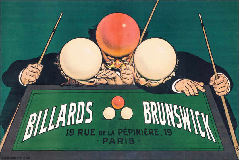 Premium-Poster Billards Brunswick